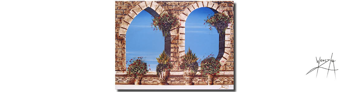 Arches - mediterranean views