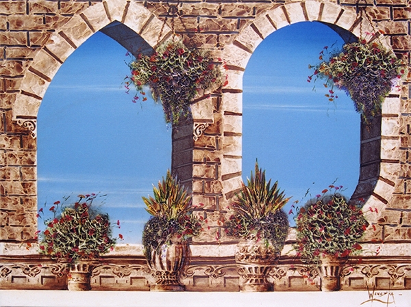 Abstract painting, Jan Wenczka, Wenczka Art, London painter, London artist, Mediterranean art, Mediterranean arches