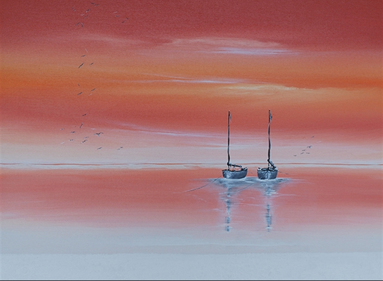 Abstract painting, Jan Wenczka, Wenczka Art, London painter, London artist, Seascape, Franavilla, Italy